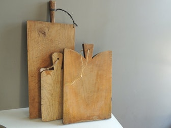 Antique French Large Wood Chopping Block