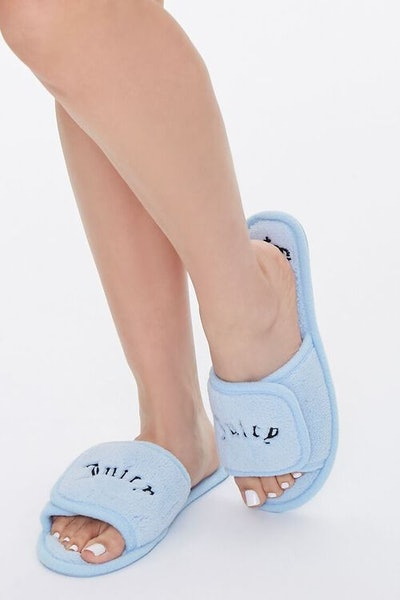 Juicy Couture x Forever 21 Graphic Fuzzy Slippers