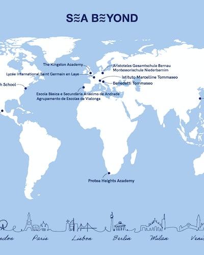 Schools participating in Prada x UNESCO Sea Beyond environmetal awareness campaign.