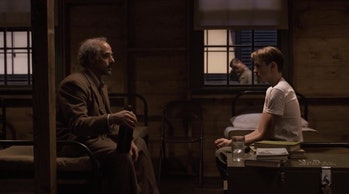 Stanley Tucci and Chris Evans in Captain America: The First Avenger