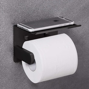 VAEHOLD Self Adhesive Toilet Paper Holder with Phone Shelf
