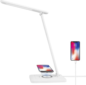 HDTIME Wireless Desk Lamp with Charging Port