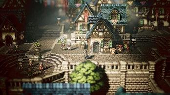 Octopath Traveler town