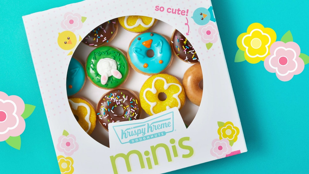 Krispy Kreme's mini spring doughnuts with Easter designs are totally Instagram-worthy.