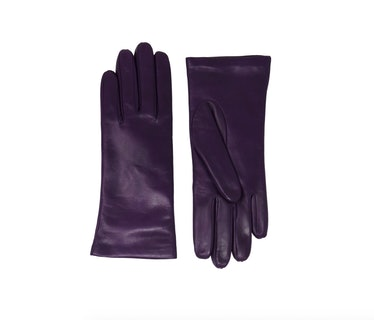 Women's Cashmere Lined Lambskin Leather Gloves