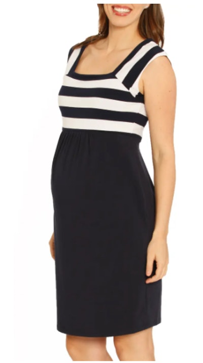 Fitted Stripe Maternity Dress