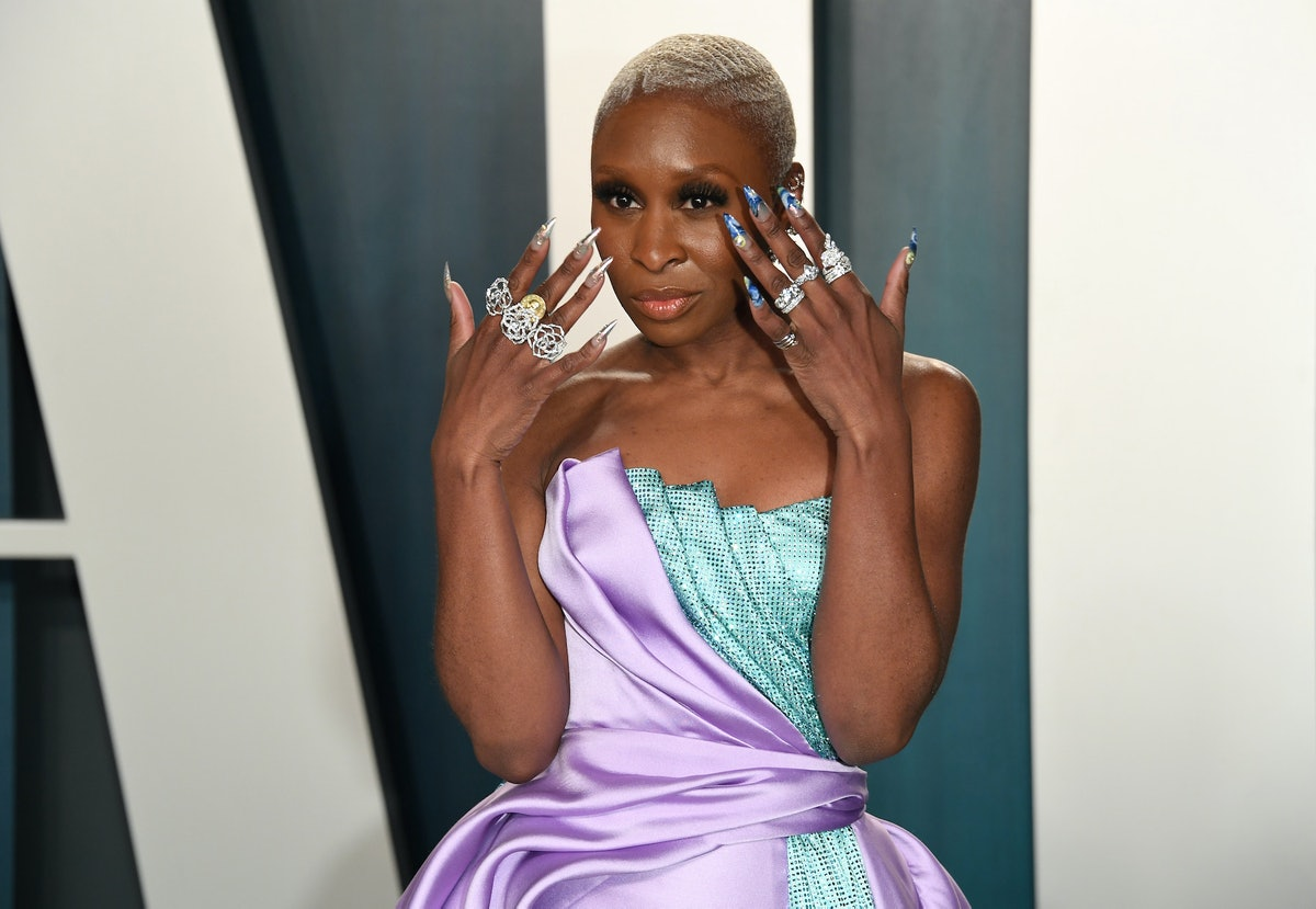 Cynthia Erivo showing off her nails