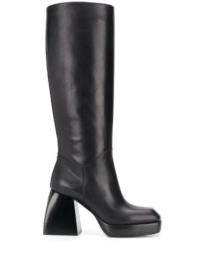 Knee-Length Heel Boots