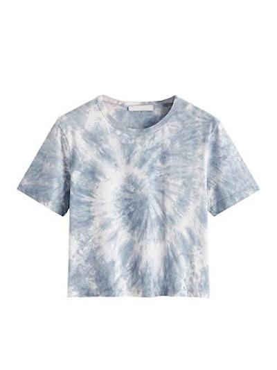 SweatyRocks  Tie Dye Crop Top T-Shirt