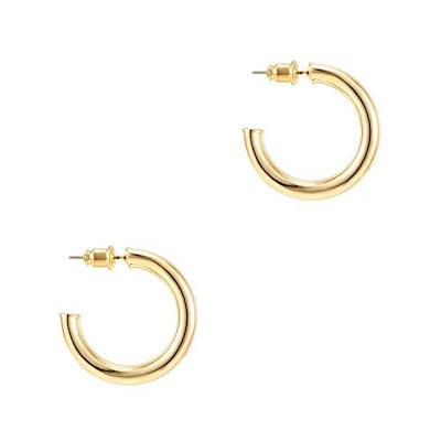 PAVOI 14K Yellow Gold Hoop Earrings