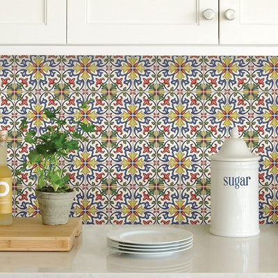 In Home Tuscan Peel & Stick Backsplash Tiles (4 Sheets)