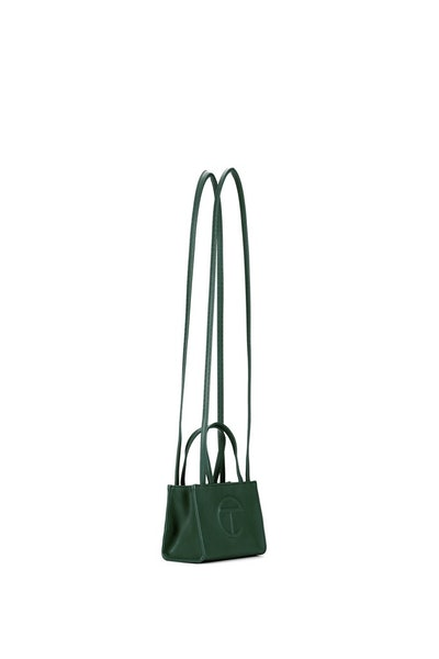 Small Dark Olive Shopping Bag