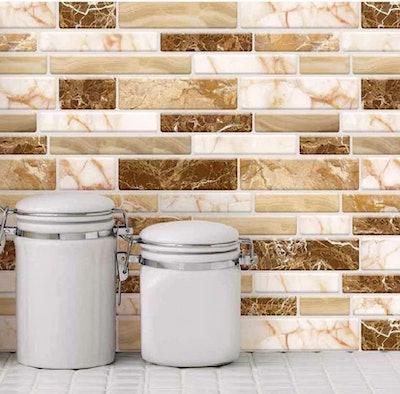 LONGKING Peel & Stick Tile Backsplash (10 Sheets)