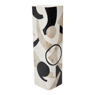 "1990s Vintage 42"" Postmodern Tessellated Stone ""Et Cetera"" Pedestal"