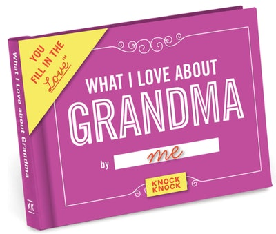 What I Love about Grandma Fill in the Love Book