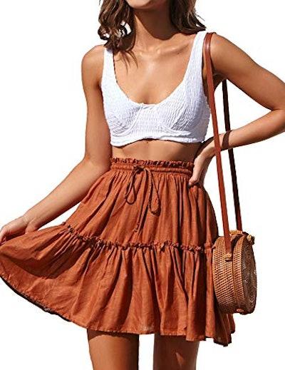 Relipop Flared Short Skirt