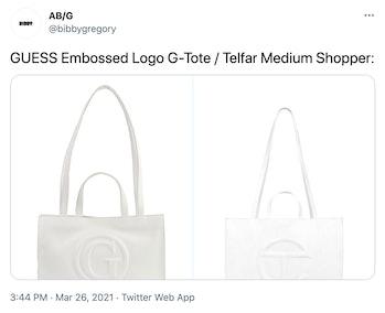 Guess Telfar Shopping Bag