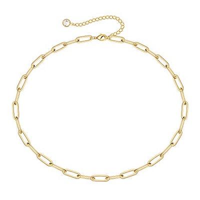 Turandoss 14K Gold Chain Link Choker
