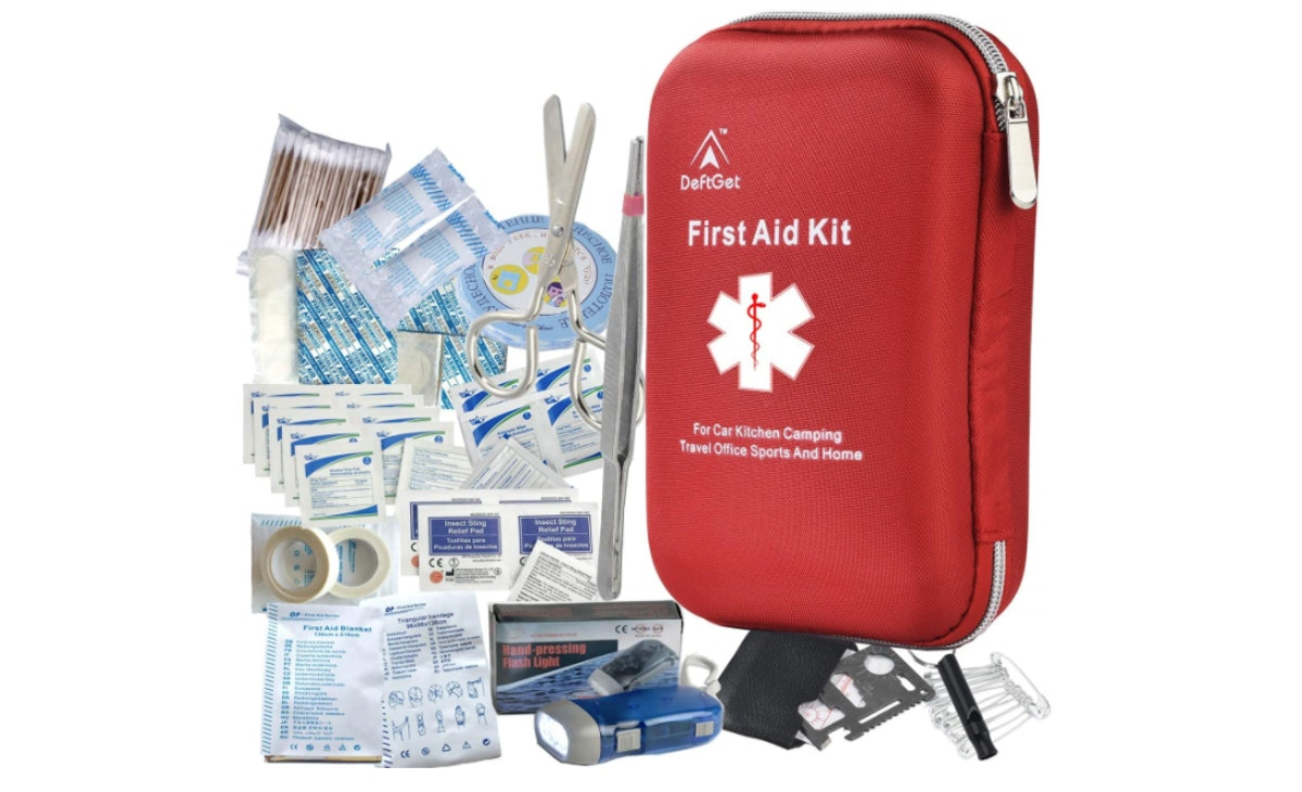 deftget Waterproof First Aid Kit (163 Pieces)