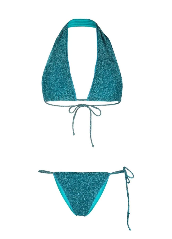 Metallic Effect Halterneck Bikini