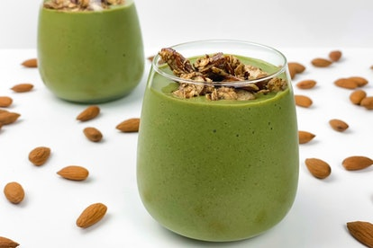 green smoothie healthy almond-based recipes