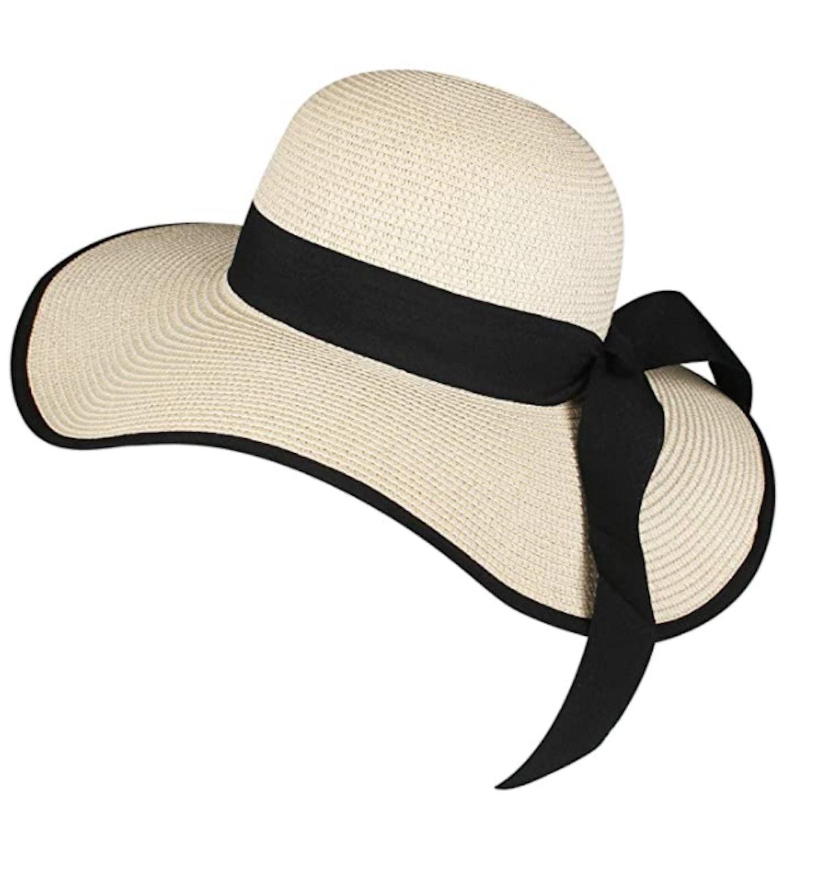 FURTALK Womens Beach Sun Straw Hat