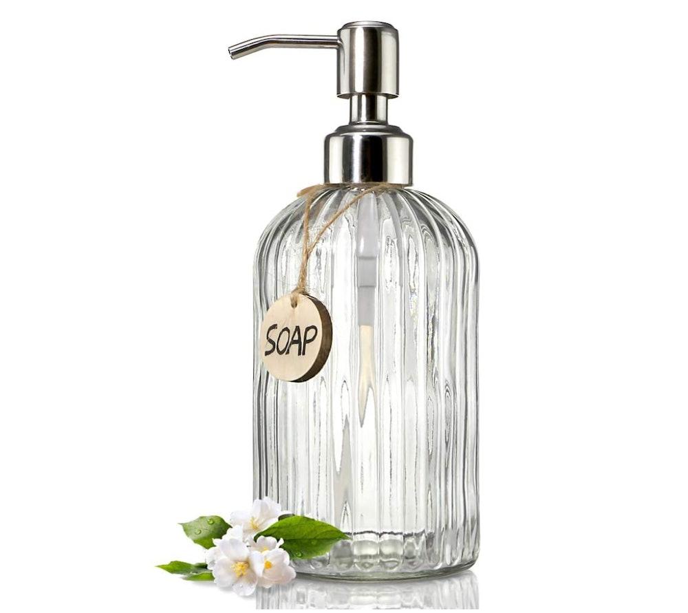 JASAI Clear Glass Soap Dispenser