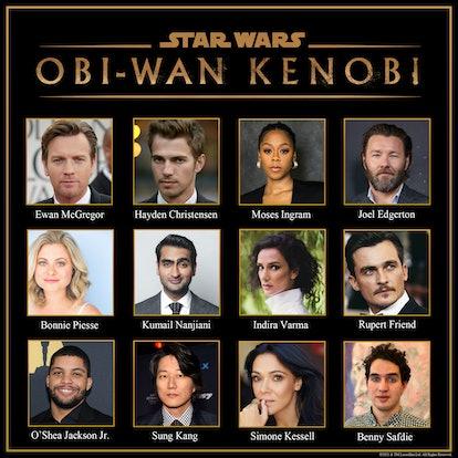 The cast of Obi-Wan Kenobi