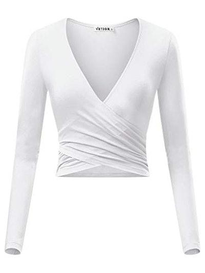 VETIOR Deep V Neck Long Sleeve Shirt