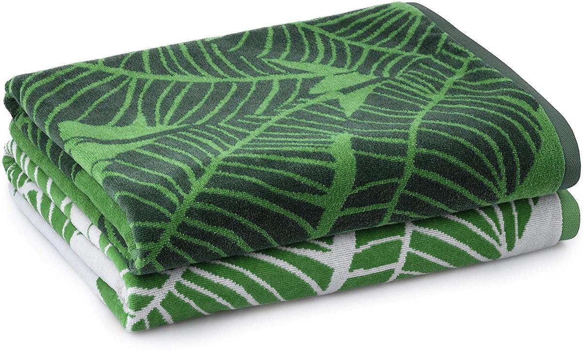 Welhome Jacquard Beach Towel (2-Pack)