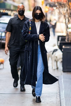 Kendall Jenner is seen in SoHo on March 22, 2021 in New York City.