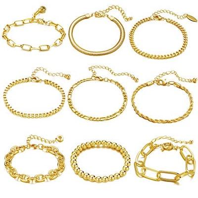 IF ME 9 PCS Chain Bracelets Set