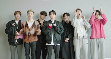 LOS ANGELES, CALIFORNIA - NOVEMBER 01: In this screengrab released on November 08, BTS accepting the...