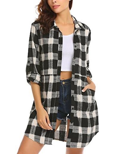 HOTOUCH Flannel Plaid Shirt