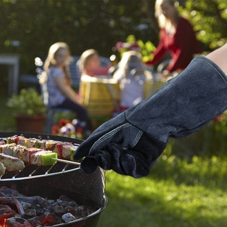 OZERO Leather Heat-Resistant Grilling Gloves