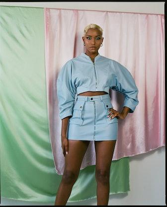 Kai Vegan Leather Skirt
