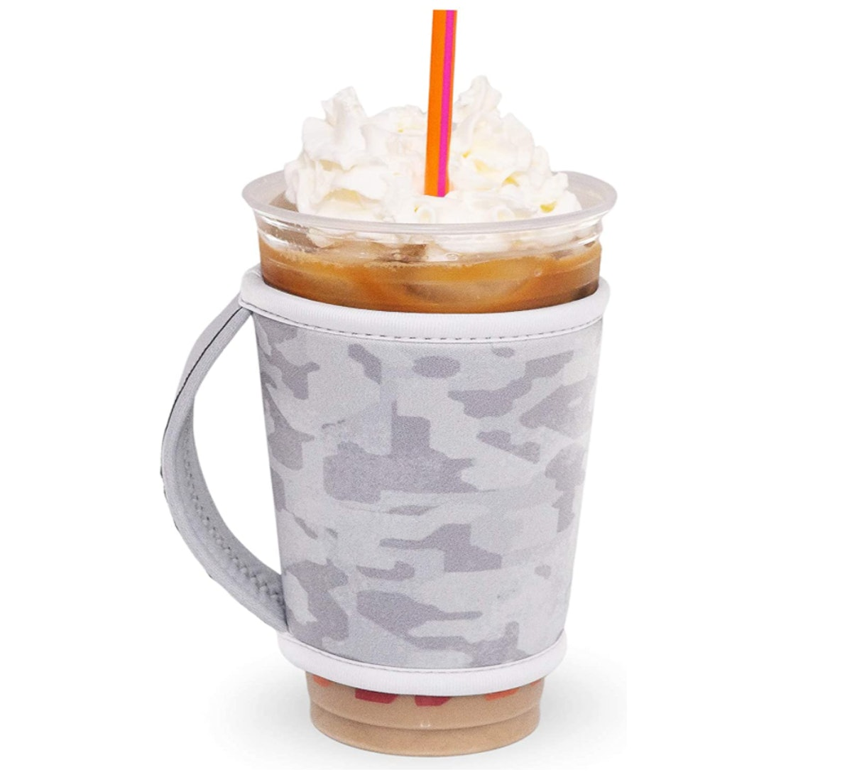 GoCuff Reusable Coffee Cup Insulator Sleeve with Handle
