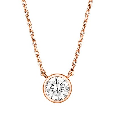PAVOI 14K Rose Gold Plated Cubic Zirconia Choker