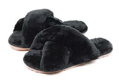 Crazy Lady Crossband Furry Slippers