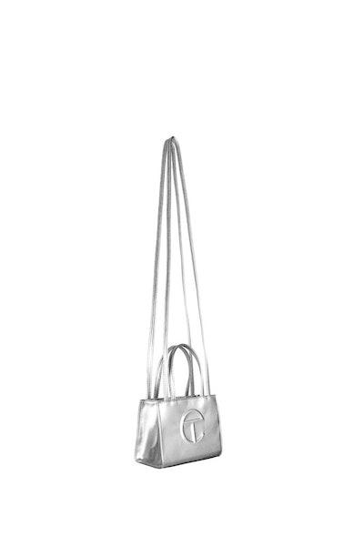 Small Silver Shopping Bag