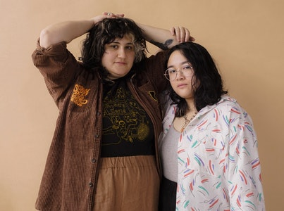 A photo of the band Bachelor, made up of Jay Som's Melina Duterte and Palehound.