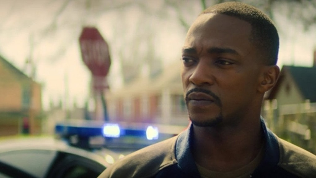 Anthony Mackie as Sam Wilson/Falcon in The Falcon & The Winter Soldier