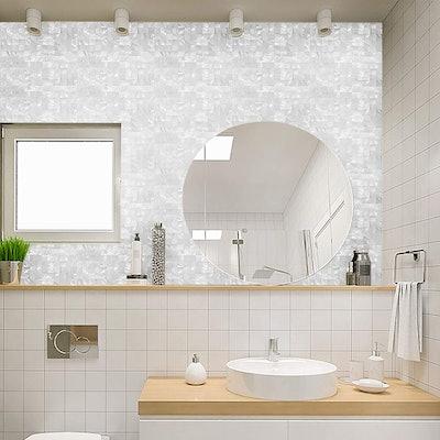 KASARO Peel & Stick Mosaic Shell Backsplash (10 Sheets)