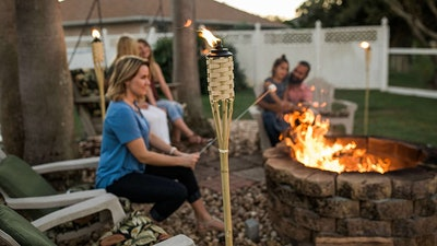 TIKI 57-Inch Luau Bamboo Torches (4- Pack)