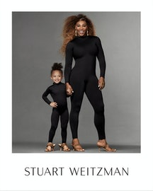 Serena Williams and her daughter Olympia In Stuart Weitzman Spring 2021 Campaign.