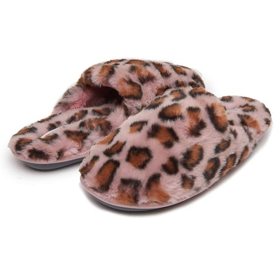 Laura Ashley Animal-Print Slippers