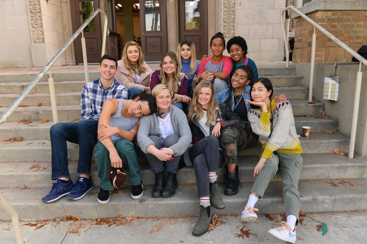 Hadley Robinson, Alycia Pascual-Peña, Amy Poehler, and the 'Moxie' cast