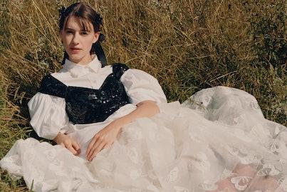 Daisy Edgar-Jones for the Simone Rocha x H&M campaign.