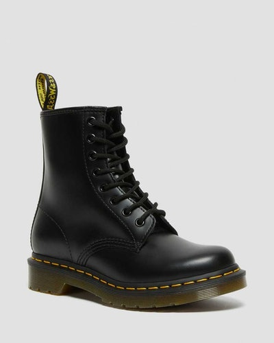 Smooth Leather Lace-Up Boots