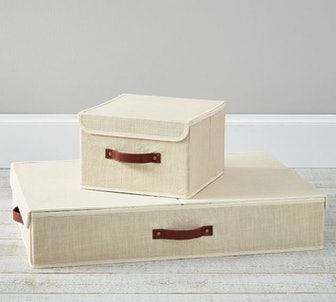 Essential Canvas Foldable Storage Bins